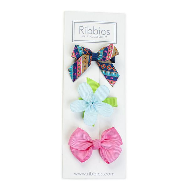 英國 Ribbies 綜合緞帶3入組|髮飾|髮夾-London【麗兒采家】