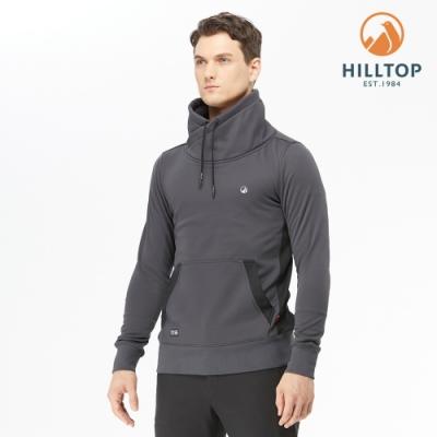 【hilltop山頂鳥】男款POLYGIENE抗菌立領保暖刷毛上衣H51MJ2深灰