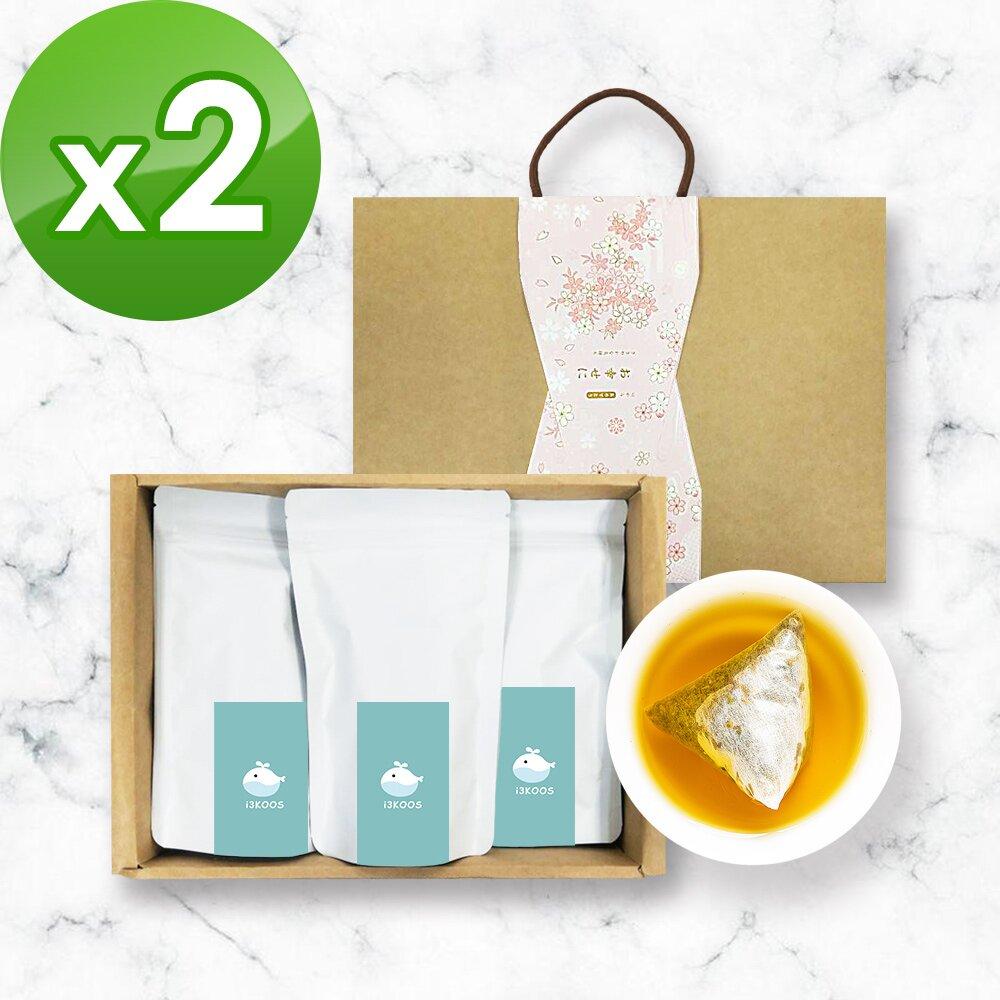 i3KOOS-金萱檸香綠茶(可冷泡)-禮盒組2組(3袋1盒)