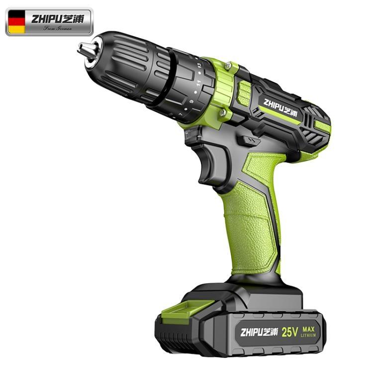 德國芝浦鋰電鑚充電式手電鑚小手鑚電鑚沖擊多功能電動螺絲刀電轉