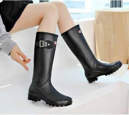 長筒雨靴 雨鞋女高筒時尚韓國可愛水鞋女雨靴長筒套鞋防滑外穿工作膠鞋 清涼一夏钜惠
