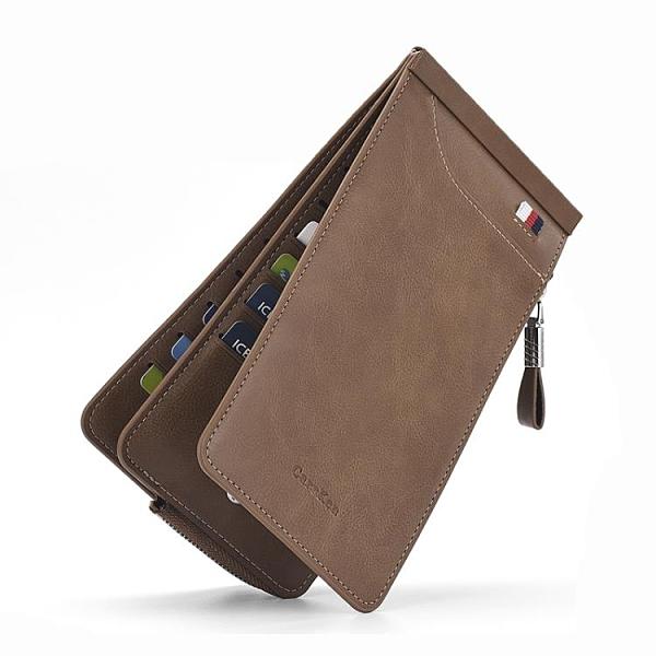 男士卡包多卡位銀行卡包信用卡套 女式超薄長款拉錬錢包手機包潮 韓美e站