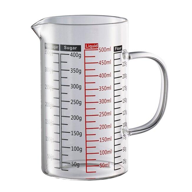 金時代書香咖啡 Tiamo  玻璃有柄量杯  500ml   HG2190