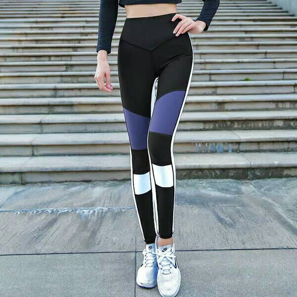 運動休閒長褲韻律有氧跑步瑜珈-KOI 顯瘦修身 (臀部視覺縮小)