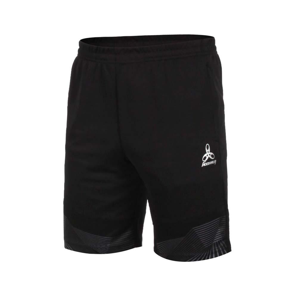 HODARLA 男星光針織運動短褲-慢跑 路跑 休閒 台灣製 五分褲 反光 黑灰