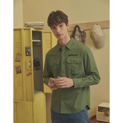 CACO-小落肩造型軍襯衫(二色)-男【A1AR007】