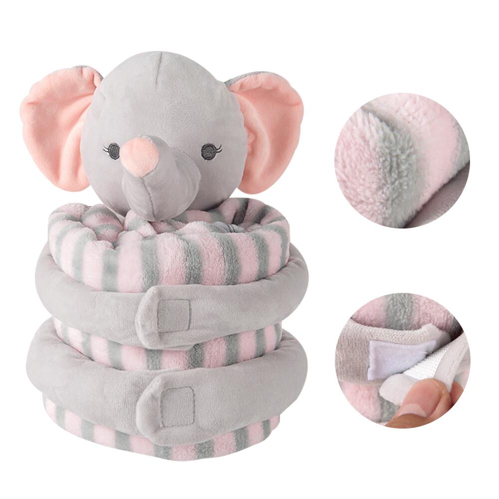 蓋毯包巾嬰兒被-安撫娃娃+抱被彌月禮-xh694