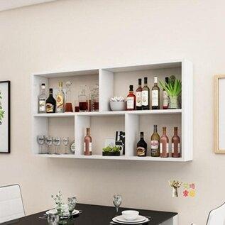 壁掛式酒櫃 簡約現代酒架酒櫃壁掛式餐廳飯店牆上懸掛式紅酒架創意多層置物架T 聖誕節全館免運