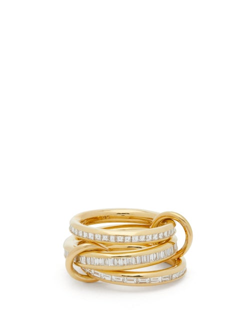 Spinelli Kilcollin - Manava Diamond & 18kt Gold Ring - Womens - Yellow Gold