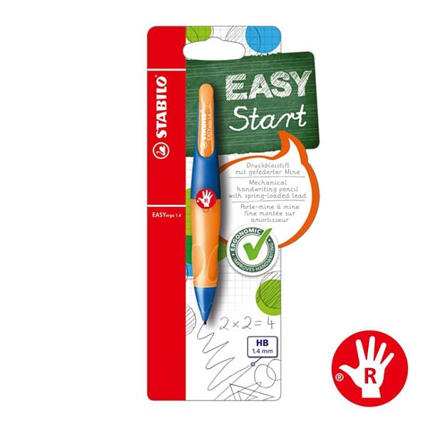 STABILO 德國 思筆樂 EASYergo 1.4 胖胖鉛自動鉛筆 右手筆 群青霓紅橙 / 支 B-46905-5