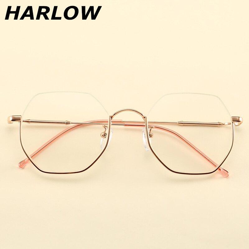 下半框眼鏡男女潮復古銀色眼鏡框男女不規則