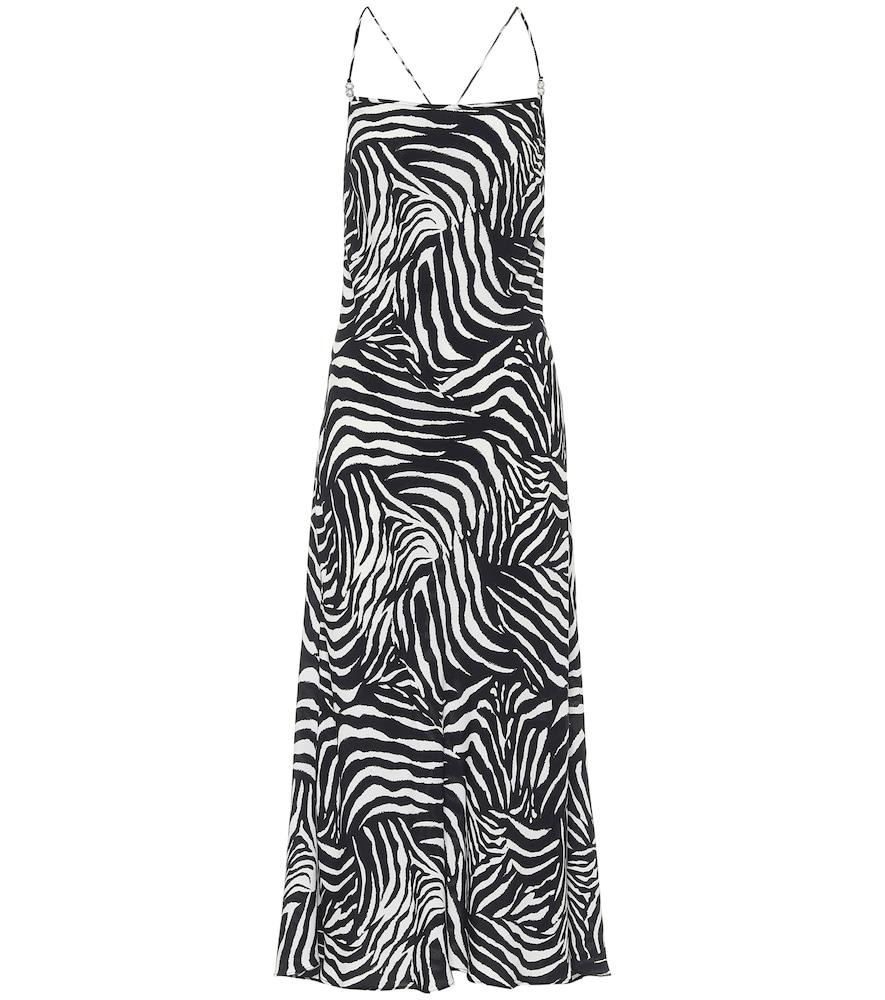 Sylvie zebra-print midi dress