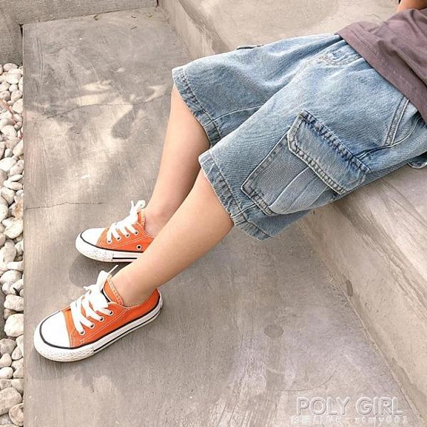 男童牛仔短褲外穿寬鬆潮寶寶夏季工裝褲兒童夏裝薄款褲子韓版2021 夏季新品