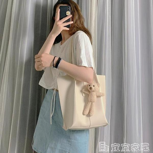 手提包 包包女2020新款潮韓版可愛少女手提包百搭大容量托特包時尚側背包 嬡孕哺