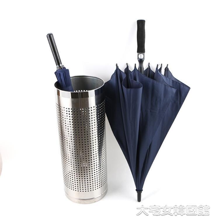 創意不銹鋼雨傘桶酒店大堂雨傘收納桶店用家用銀行4S店長短雨傘桶 YJT【雙十二全館免運】