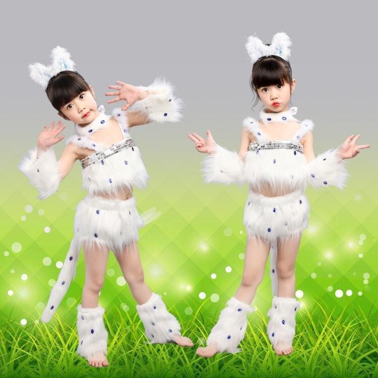 樂天優選-舞蹈裝 新品波斯貓表演服幼兒小貓咪舞蹈服裝卡通貓跳舞衣兒童動物演出服家