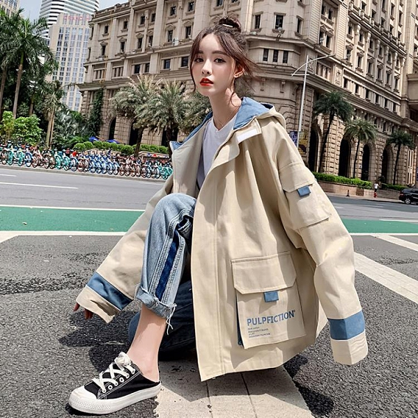 棒球外套 冬季韓版工裝外套女加厚加絨學生春秋寬鬆百搭棒球棉服 交換禮物