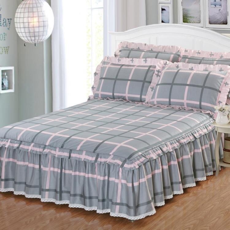 夏季純棉床罩床裙式防滑床套單件全棉保護套防塵罩1.5米1.8m床單1
