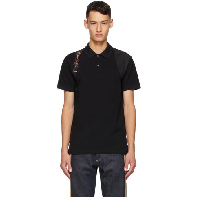 Alexander McQueen 黑色 Harness 徽标 Polo 衫