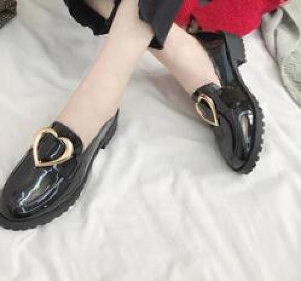 英倫風小皮鞋女樂福鞋豆豆鞋
