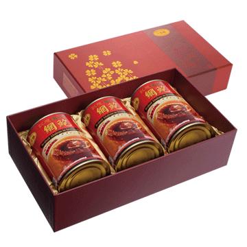 一吉膳-紅燒網鮑3入禮盒(420克/罐)