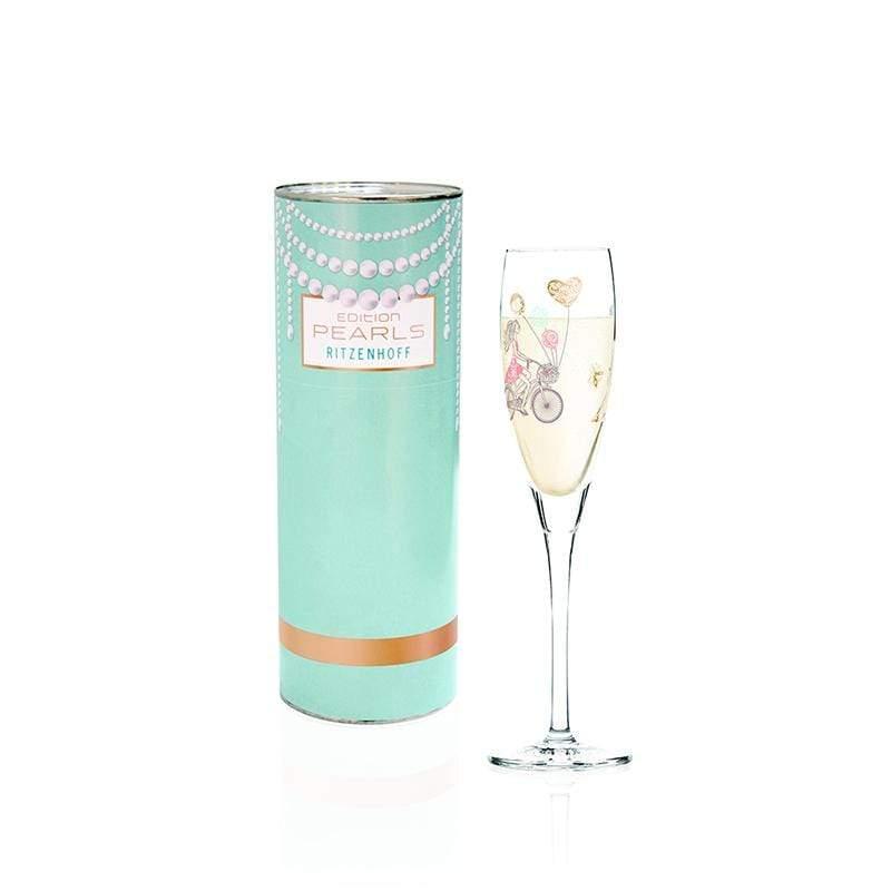 珍珠氣泡酒杯 - 共4色 繽紛花園