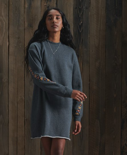 Superdry Crafted Folk Sweat Dress