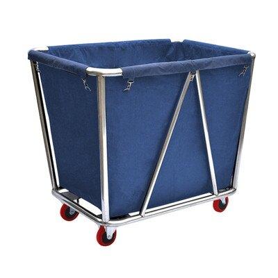 加厚錐形不銹鋼布草車酒店賓館收集車洗衣房清潔客房服務車回收車 樂樂百貨