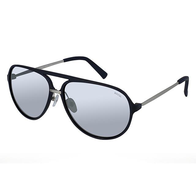 【INVU】瑞士率性大自然風格偏光太陽眼鏡(霧黑/水銀鏡面 Z1000C)