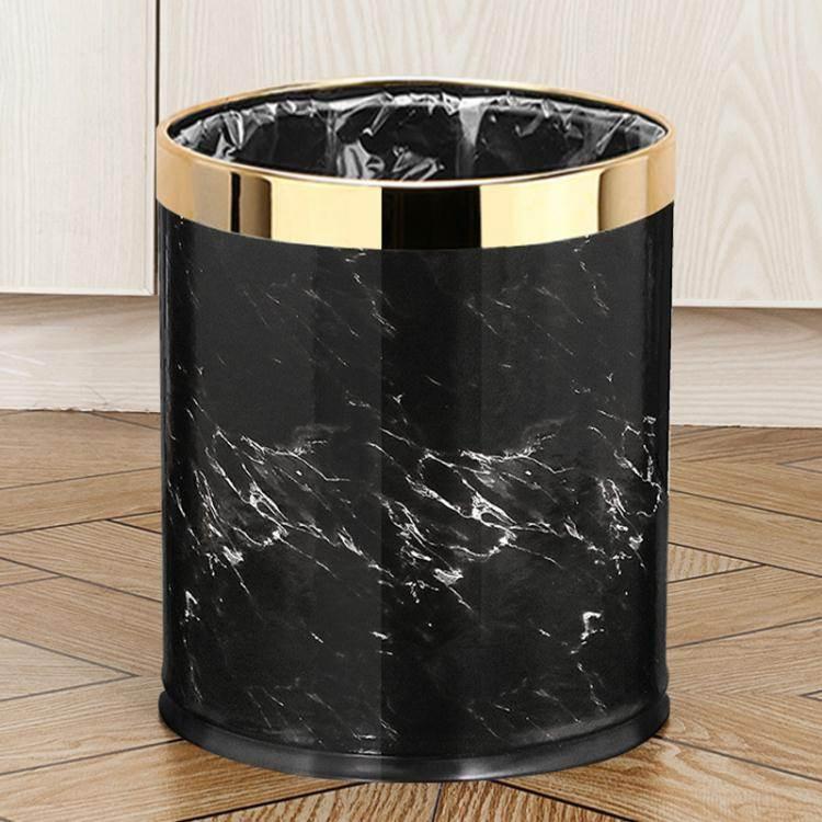 垃圾桶垃圾桶家用歐式創意客廳臥室可愛衛生間不銹鋼高檔輕奢風北歐ins