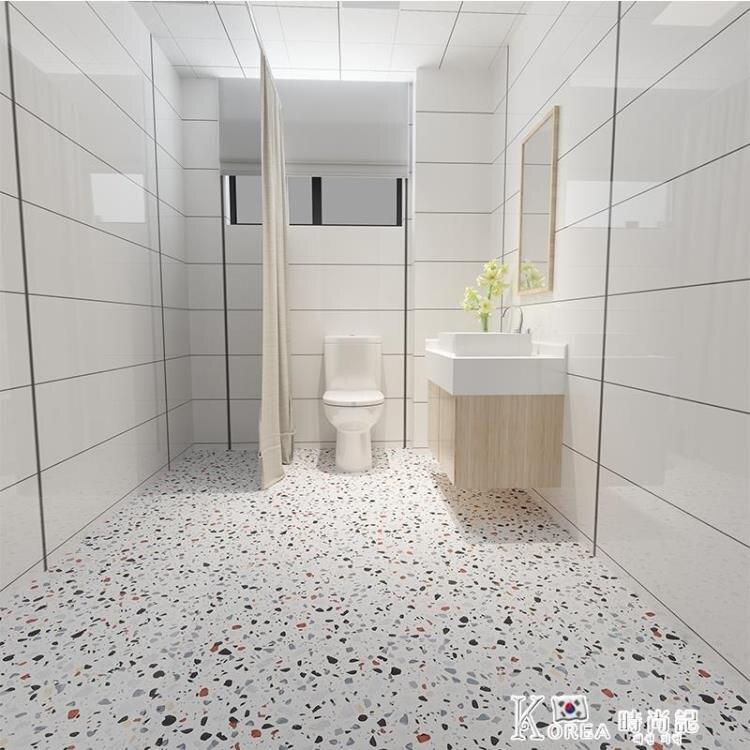 加厚衛生間浴室地板貼防水防滑瓷磚地面裝飾廚房地貼耐磨自粘貼紙