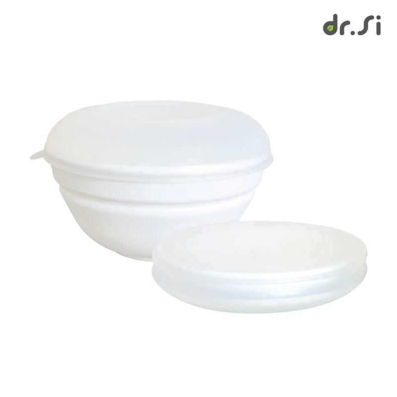 dr.Si 矽寶巧 巧力碗 - 雙蓋組 透明