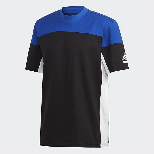 ADIDAS Z.N.E. 男裝 短袖 訓練 棉質 色塊 寬版 黑 藍【運動世界】FT6134