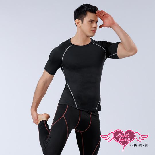 【天使霓裳】塑身衣 簡約有型 短袖運動背心 運動內衣 (黑M~XL號)