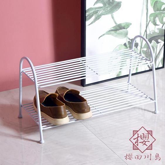 鞋架進門簡易鐵藝拖鞋收納架家用多層鞋架子鞋門口