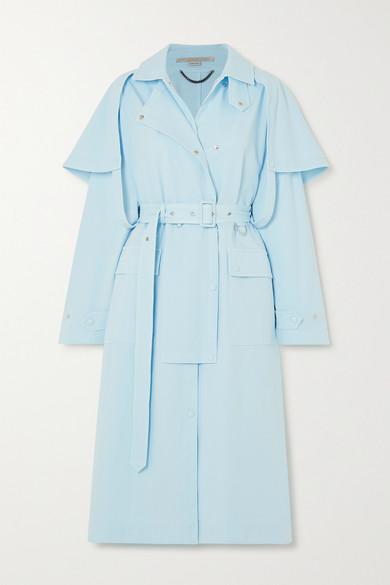 Stella McCartney - 棉质混纺斜纹布风衣 - 蓝色 - IT42