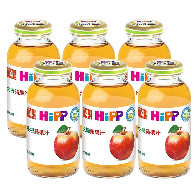 HiPP 喜寶 生機蘋果汁200ml(6罐)【衛立兒生活館】