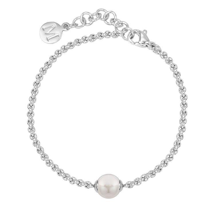 MAJORICA Mallorca 手環 8 mm 白色圓形珍珠