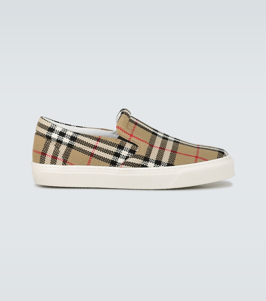 Thompson checked slip-on sneakers