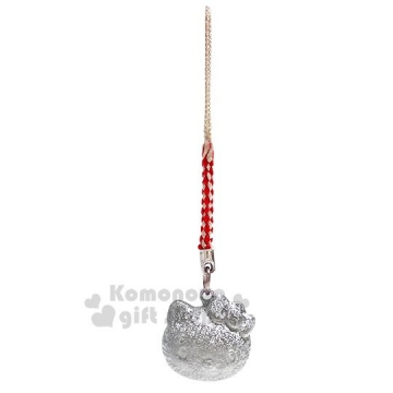小禮堂 Hello Kitty 大臉造型水琴鈴鐺吊飾《銀》掛飾.鑰匙圈