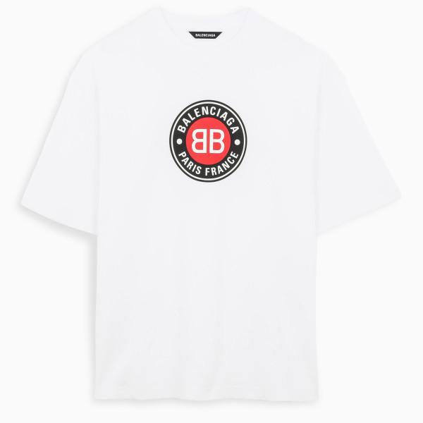 Balenciaga White Paris France t-shirt