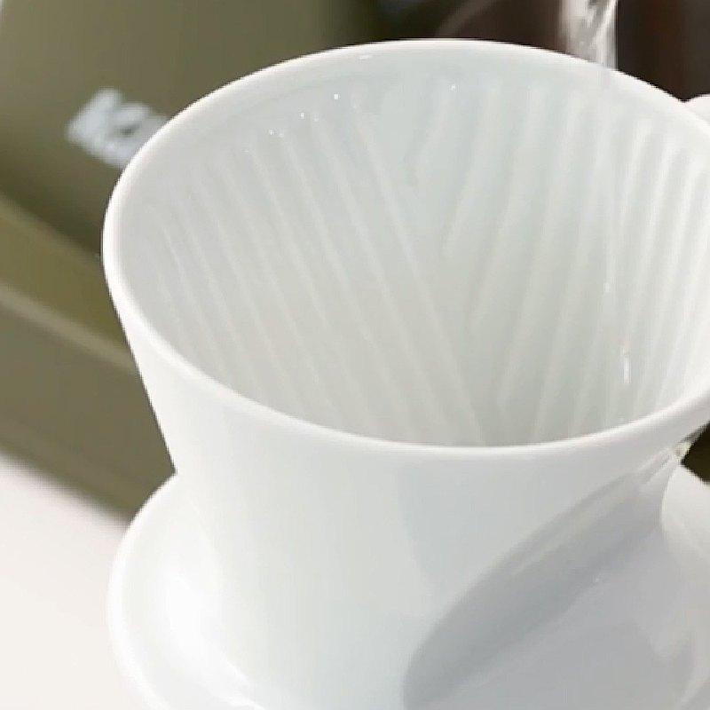 【日本】Kalita│101系列 傳統陶製三孔濾杯 (簡約白)