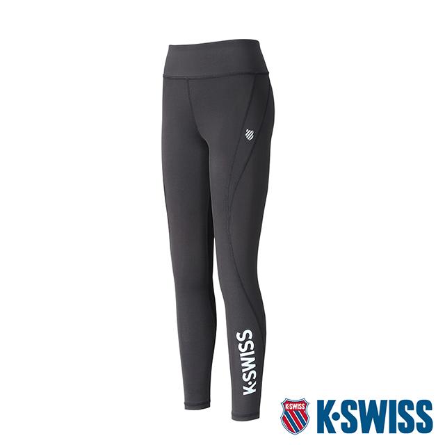 K-SWISS KS Logo Legging運動緊身褲-女-黑