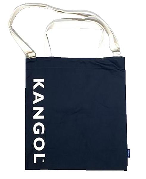 ~雪黛屋~KANGOL 托特包大容量可A4資料夾進口防水尼龍布簡易式主袋固定型提帶L6025300980