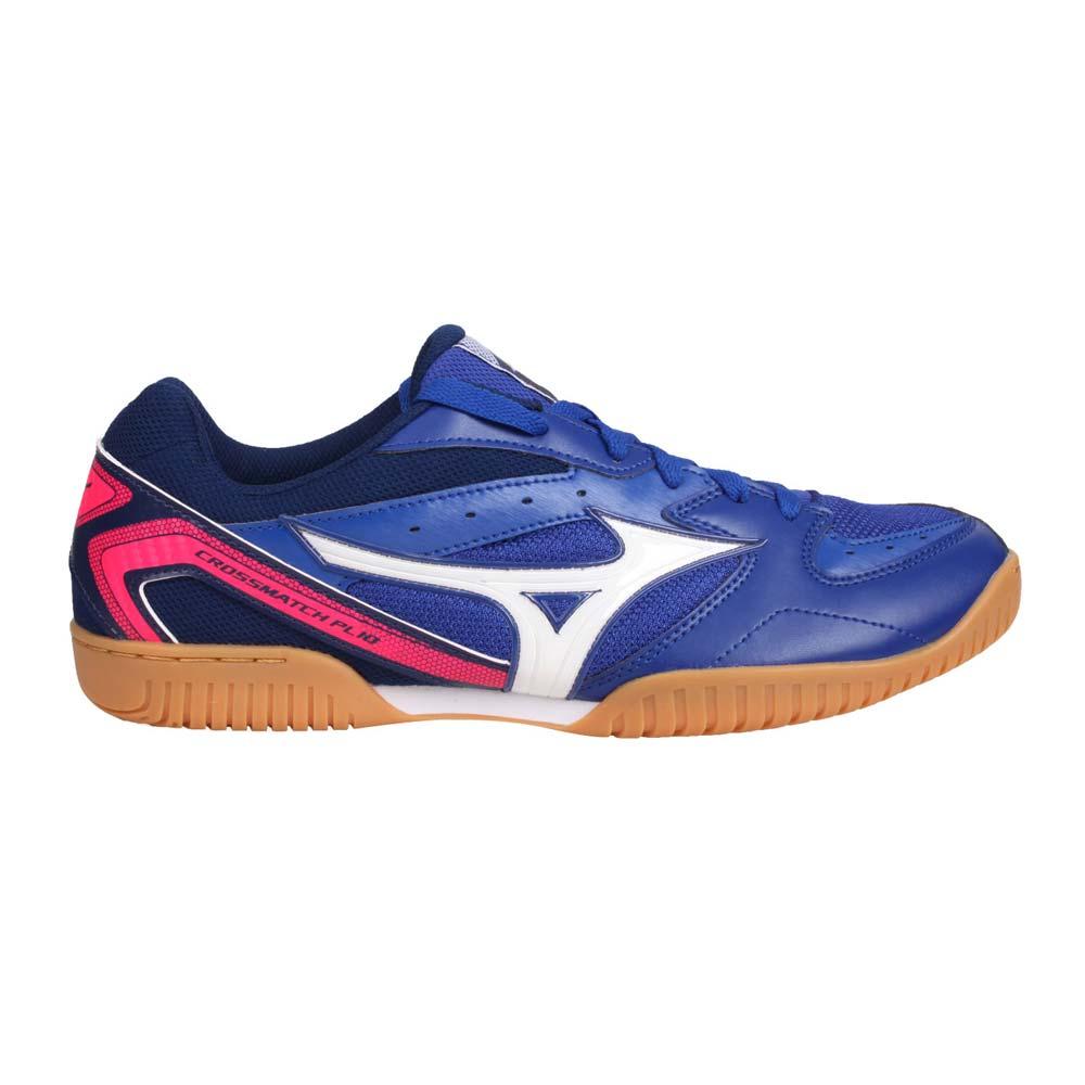 MIZUNO CROSSMATCH PLIO RX4 男桌球鞋-訓練 乒乓 藍白亮桃紅