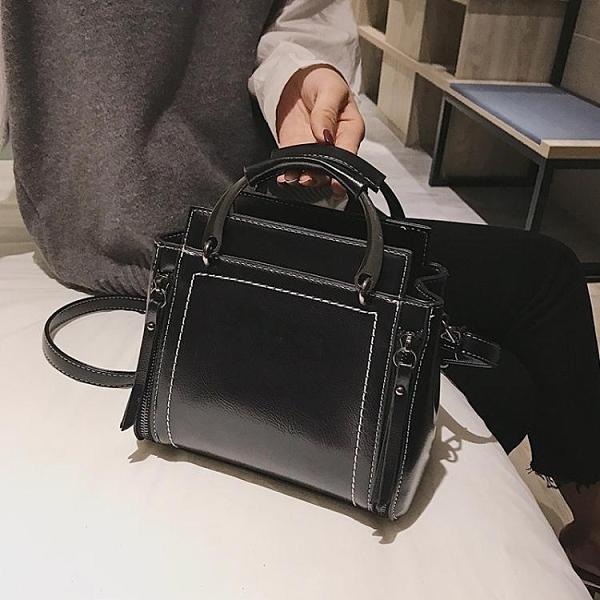 高級感手提包網紅小黑包質感單肩包包女2020新款潮百搭洋氣斜挎包