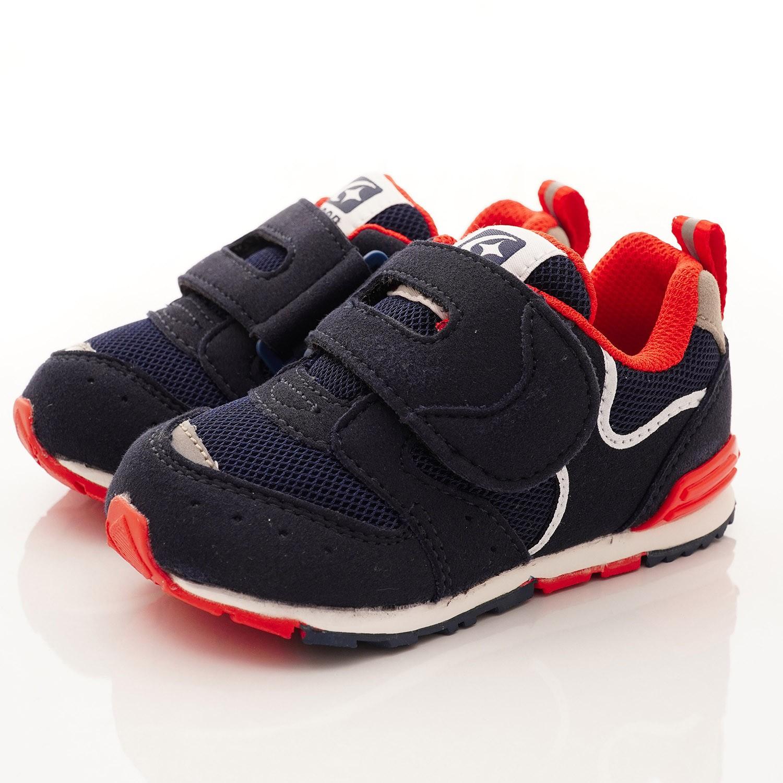 Moonstar日本月星 - 機能童鞋-HI系列2E學步鞋(寶寶段)-深藍/紅