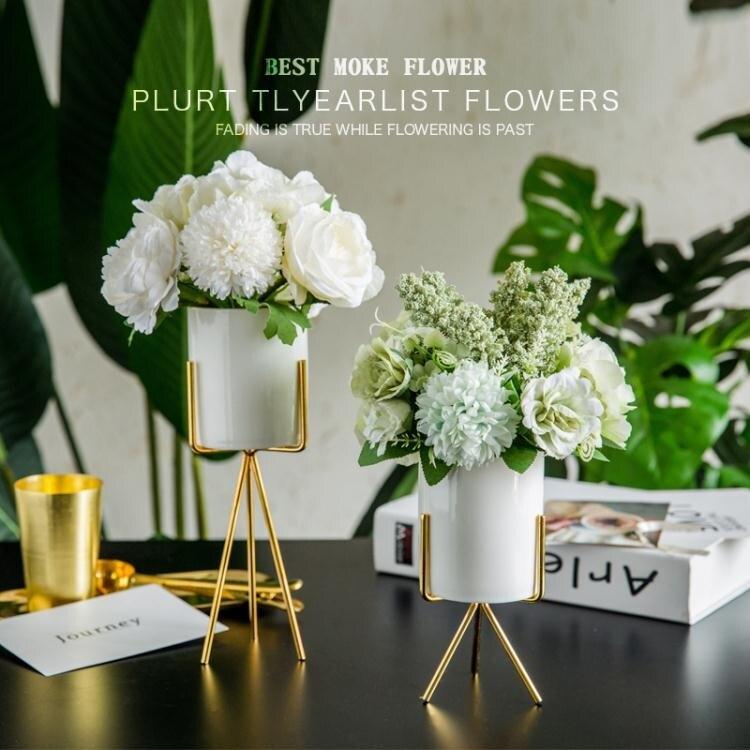 仿真花ins北歐客廳茶幾假花藝餐桌仿真干花束擺件擺設裝飾家居創意塑料
