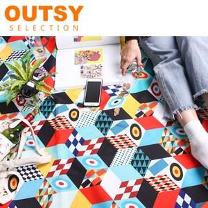 OUTSY 台灣製限量款印花輕量花布野餐墊一級玩家