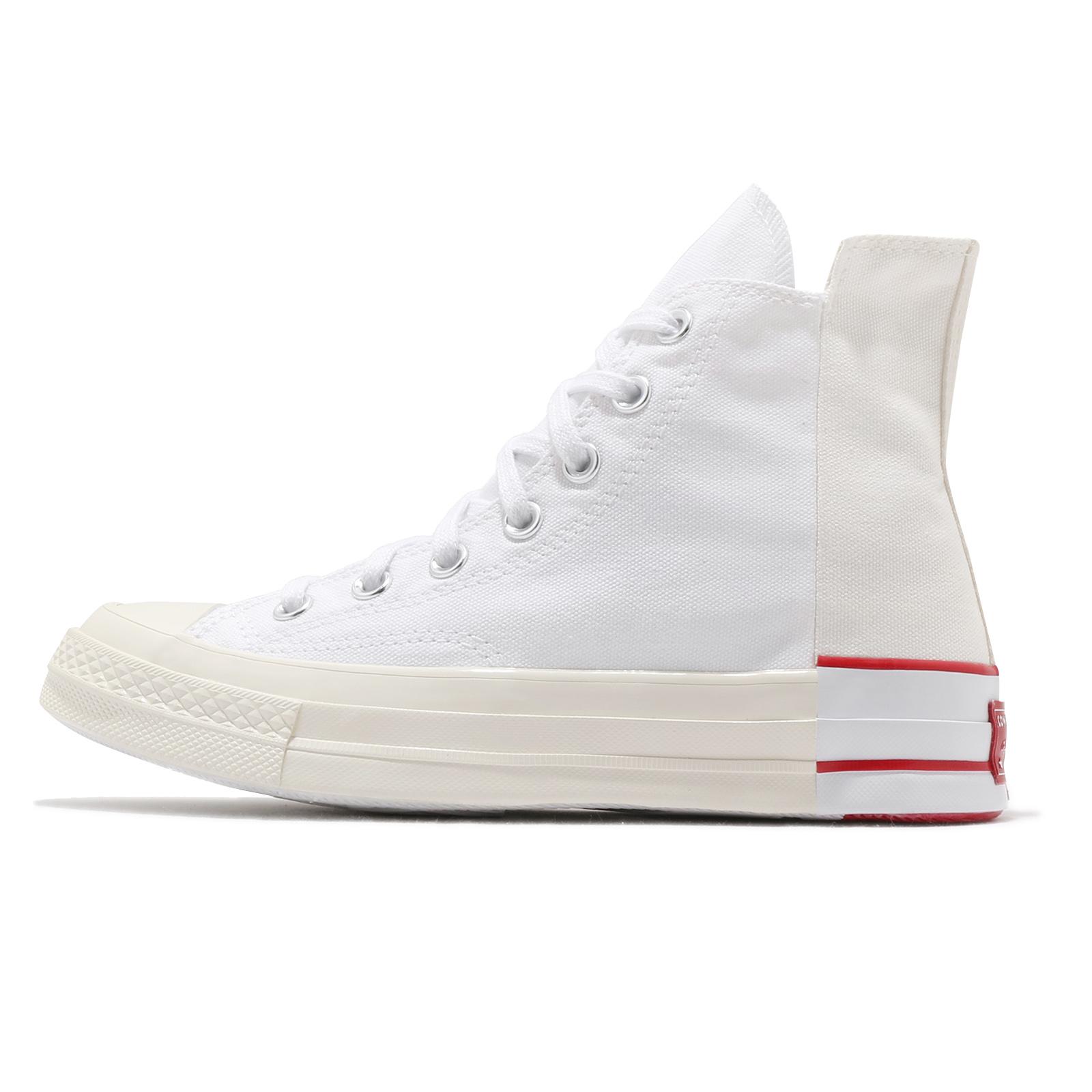 Converse Rivals Chuck 70 Hi 白 紅 不對稱 高筒 帆布鞋 男女鞋 【ACS】 168671C